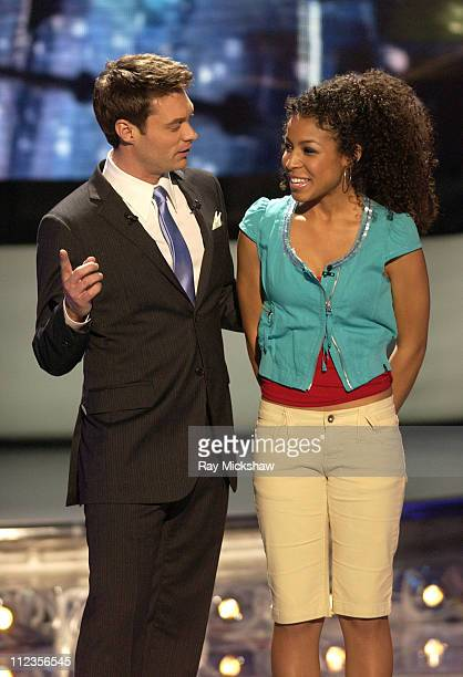 """American Idol"" Season 5 - Ryan Seacrest, host and Top 11 Finalist, Lisa Tucker from Anaheim, California *EXCLUSIVE*"