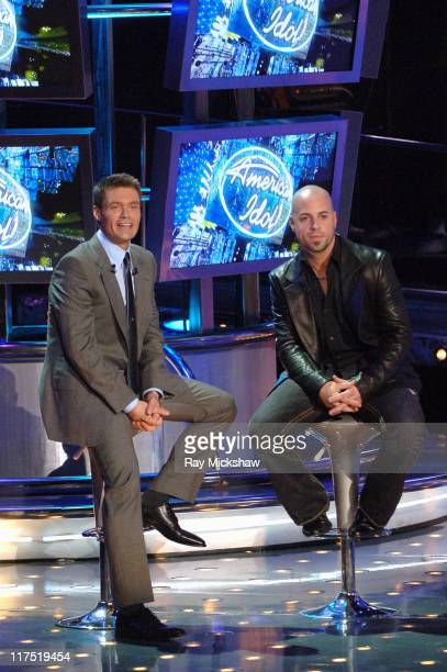 American Idol Season 5 Ryan Seacrest host and Top 5 Finalist Chris Daughtry from McLeansville North Carolina *EXCLUSIVE*