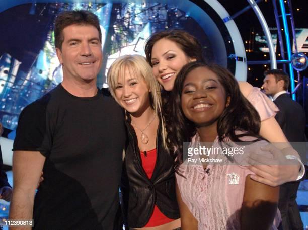 American Idol Season 5 Simon Cowell judge Top 8 Finalists Kellie Pickler of Albemarle North Carolina Katharine McPhee from Sherman Oaks California...