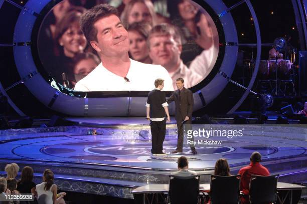 """American Idol"" Season 5 - Top 11 Finalist, Kevin Covais from Levittown, New York and Ryan Seacrest, host *EXCLUSIVE*"