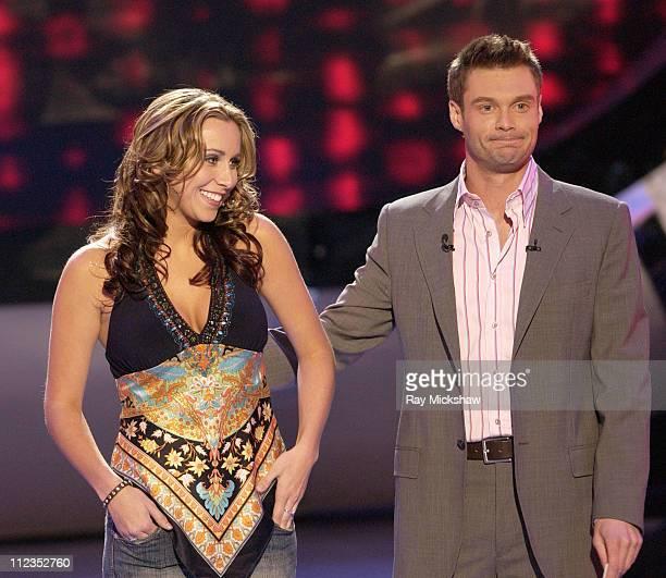 """American Idol"" Season 5 -Top 12 Finalist, Melissa McGhee of Tampa, Florida and Ryan Seacrest, host *EXCLUSIVE*"