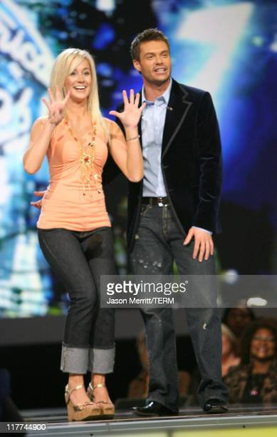 'American Idol' Season 5 Top 20 Finalist Kellie Pickler of Albemarle North Carolina and and Ryan Seacrest host *EXCLUSIVE*