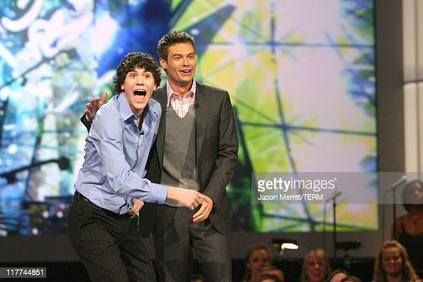 American Idol Season 5 Top 20 Finalist Will Makar from The Woodlands Texas and Ryan Seacrest host *EXCLUSIVE*