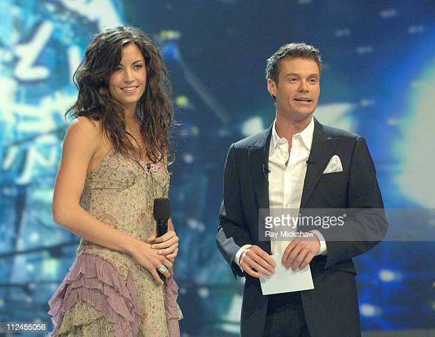 American Idol Season 5 Top 24 Finalist Becky O'Donohue from Dobbs Ferry New York and Ryan Seacrest host *EXCLUSIVE*