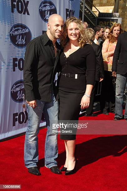 American Idol Season 5 Top 4 Finalist Chris Daughtry from McLeansville North Carolina and wife Deanna Daughtry
