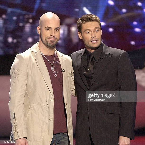 American Idol Season 5 Top 4 Finalist Chris Daughtry from McLeansville North Carolina and Ryan Seacrest host *EXCLUSIVE*