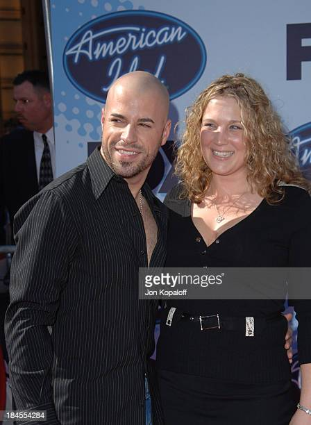 American Idol Season 5 Top 4 Finalist Chris Daughtry from McLeansville North Carolina and wife Deanna