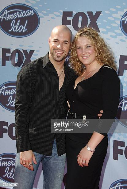 American Idol Season 5 Top 4 Finalist Chris Daughtry from McLeansville North Carolina and wife Deanna at the Kodak Theater in Hollywood California