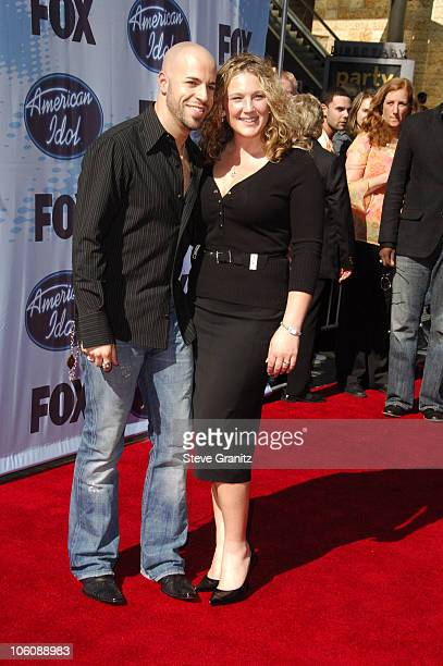American Idol Season 5 Top 4 Finalist Chris Daughtry from McLeansville North Carolina with wife Deanna