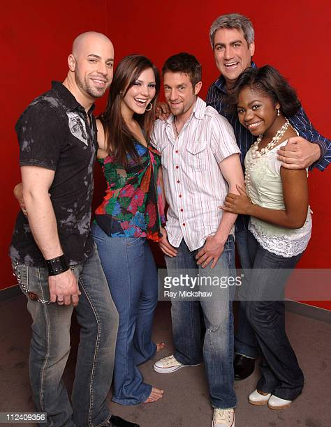 """""""American Idol"""" Season 5 - Top 5 Finalists, Chris Daughtry from McLeansville, North Carolina, Paris Bennett from Fayettesville, Georgia, Taylor Hicks..."""