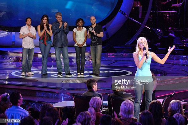 """American Idol"" Season 5 - Top 6 Finalists, Elliott Yamin from Richmond, Virginia, Taylor Hicks from Birmingham, Alabama, Paris Bennett from..."