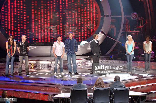 American Idol Season 5 Top 6 Finalists Katharine McPhee from Sherman Oaks California Chris Daughtry from McLeansville North Carolina Elliott Yamin...