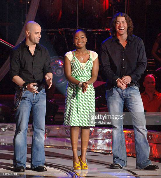 'American Idol' Season 5 Top 7 Finalists Chris Daughtry from McLeansville North Carolina Paris Bennett from Fayettesville Georgia and Ace Young from...
