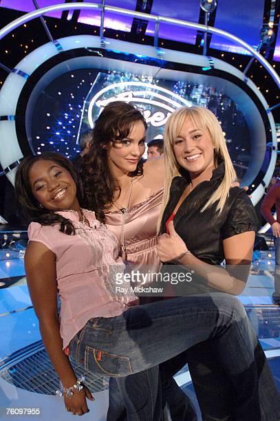 American Idol Season 5 Top 8 Finalists Paris Bennett from Fayettesville Georgia Katharine McPhee from Sherman Oaks California and Kellie Pickler of...