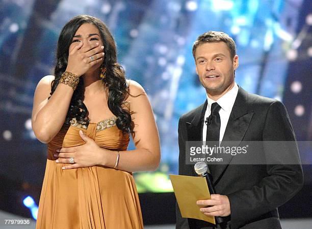 American Idol Season 6 winner Jordin Sparks from Glendale AZ and Ryan Seacrest host