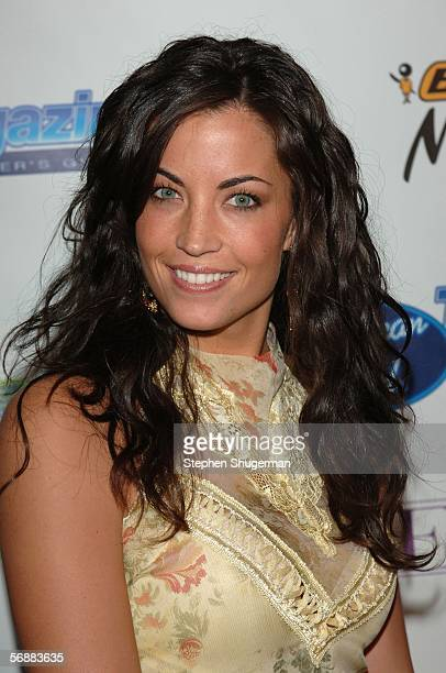 American Idol semifinalist Becky O'Donohue attends the American Idol SemiFinalists Party at Cinespace on February 18 2006 in Hollywood California