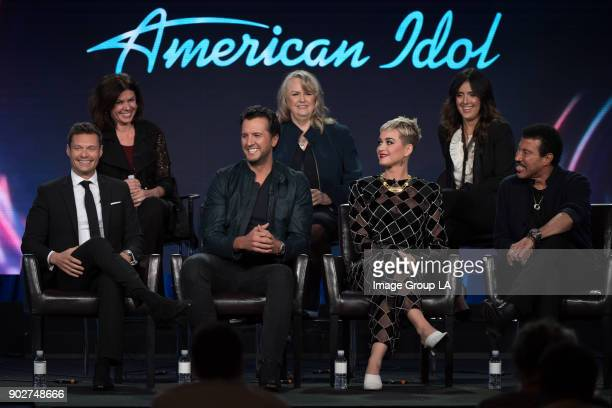TOUR 2018 'American Idol' Session The cast and executive producers of 'American Idol' addressed the press at Disney | ABC Television Group's Winter...