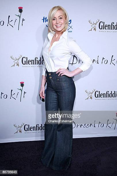 American Idol star Kellie Pickler attends the Dressed To Kilt charity fashion show benefiting Friends of Scotland at M2 Lounge on March 30 2009 in...