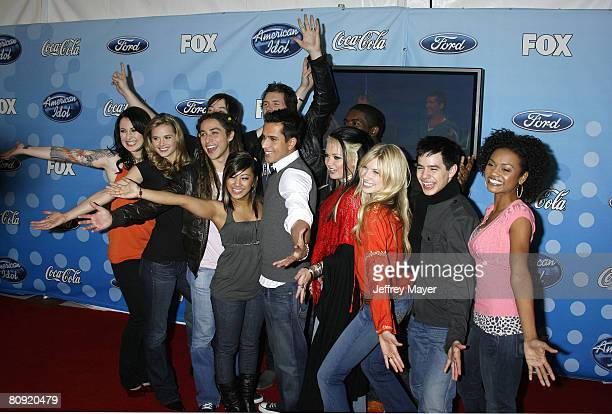 American Idol Top 12 contestants Carly Smithson Kristy Lee Cook David Cook Jason Castro Michael Johns Ramiele Malubay David Hernandez Amanda Overmyer...