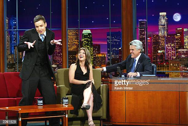 American Idol winner Kelly Clarkson and Jimmy Fallon at The Tonight Show with Jay Leno at the NBC Studios in Burbank Ca Thursday Sept 5 2002 Photo by...