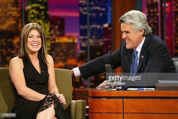 American Idol winner Kelly Clarkson at 'The Tonight Show with Jay Leno' at the NBC Studios in Burbank Ca Thursday Sept 5 2002 Photo by Kevin...