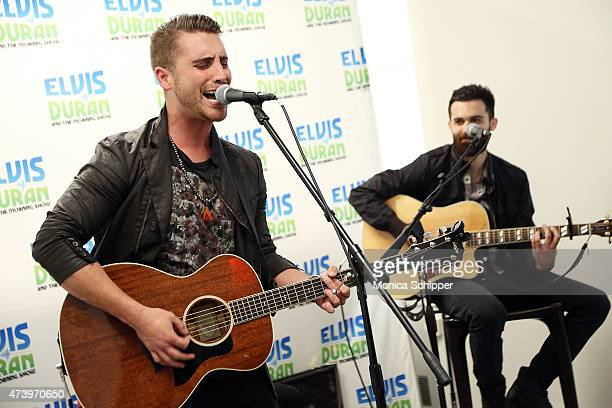 American Idol Winner Nick Fradiani and Nick Abraham perform The Elvis Duran Z100 Morning Show at Z100 Studio on May 19 2015 in New York City