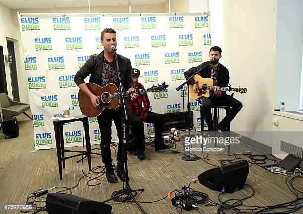 American Idol Winner Nick Fradiani Ryan Zipp and Nick Abraham perform The Elvis Duran Z100 Morning Show at Z100 Studio on May 19 2015 in New York City