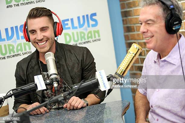 American Idol Winner Nick Fradiani speaks with Elvis Duran when he visits The Elvis Duran Z100 Morning Show at Z100 Studio on May 19 2015 in New York...
