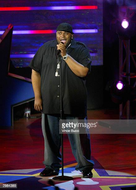 American Idol winner Ruben Studdard performs during the NBA AllStar Saturday Night festivities on February 14 2004 at the Staples Center in Los...