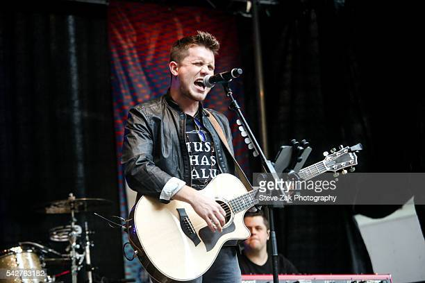 American Idol winner Trent Harmon performs during 'FOX Friends' All American Concert Series outside of FOX Studios on June 24 2016 in New York City