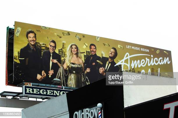 American Idol' with Katy Perry Billboard Ad is seen in West Hollywood on January 28, 2021 in Los Angeles, California.