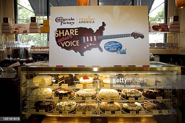 American Idols celebrate National Cheesecake Day at The Cheesecake Factory on July 29 2010 in Virginia Beach Virginia