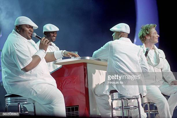American Idols Live at Continental Airlines Arena in New Jersey on Wednesday night July 30 2003This imageFrom left Ruben Studdard Rickey Smith...
