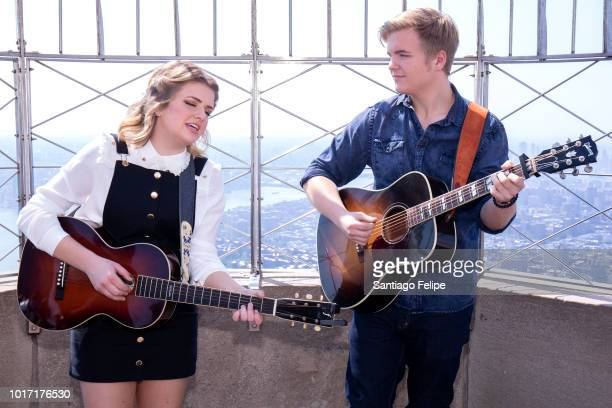 American Idol's Maddie Poppe visits The Empire State Building on August 15 2018 in New York City