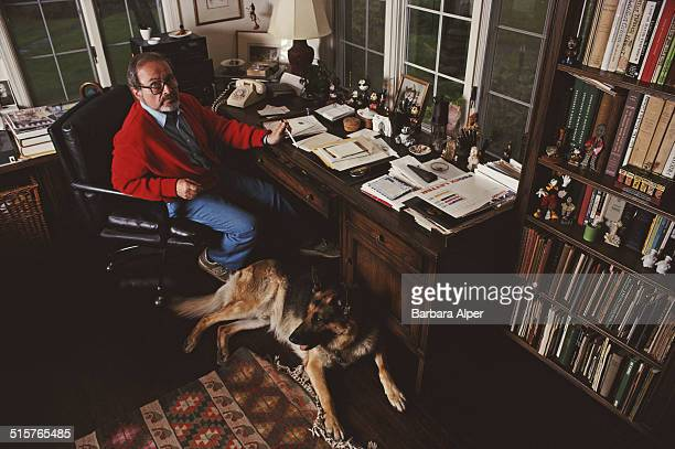 American illustrator and children's writer Maurice Sendak at his home in Ridgefield Connecticut 16th May 1990