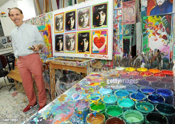 American Illustrator and graphic artist Peter Max unveils his Paul McCartney Portrait Series at the Peter Max Studio on June 18 2012 in New York City