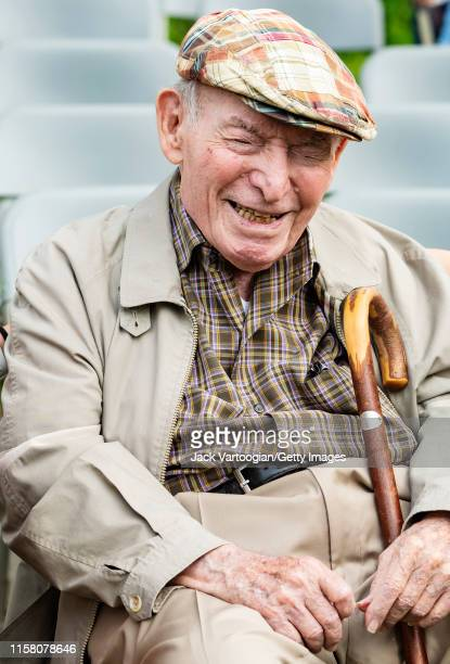 American impresario George Wein attends a 'Jazz on the Cusp' panel discussion prior to a Blue Note Jazz Festival concert at Central Park SummerStage...