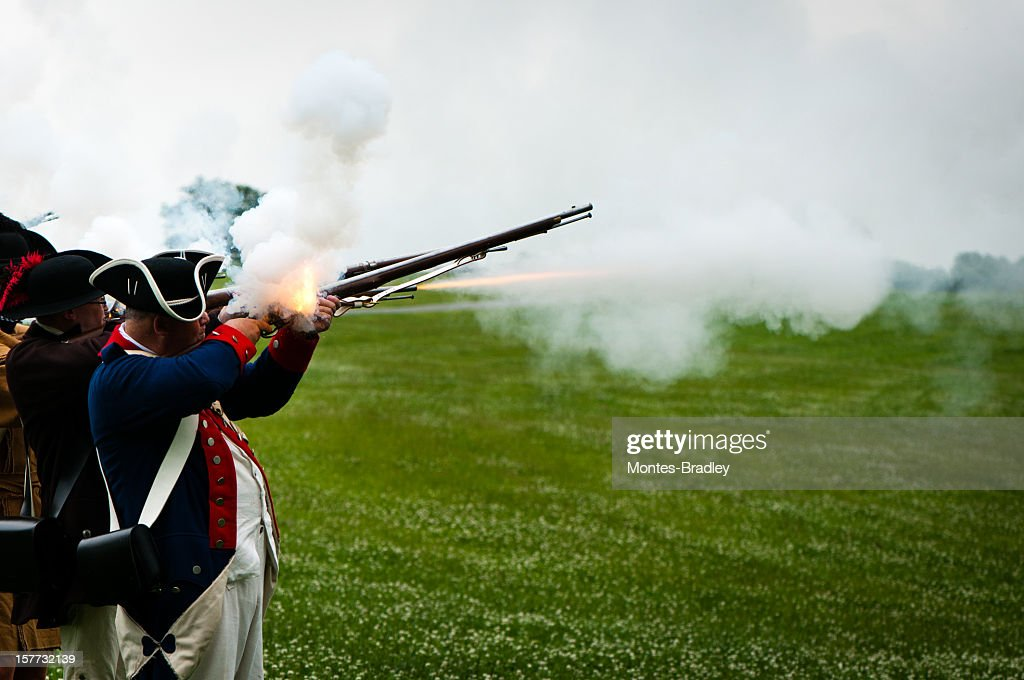 American Independance Militia : Stock Photo