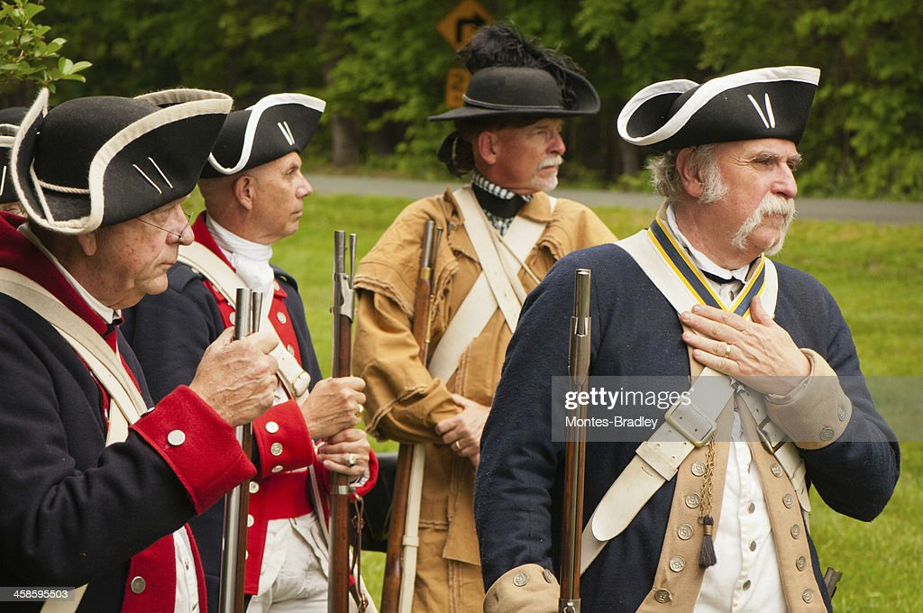 Milícia da independência americana : Foto de stock