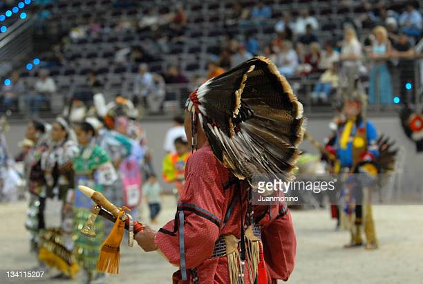american indian chief from behind - sioux culture stock pictures, royalty-free photos & images