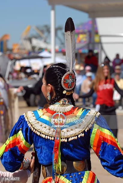 american indian girl from behind - sioux culture stock pictures, royalty-free photos & images