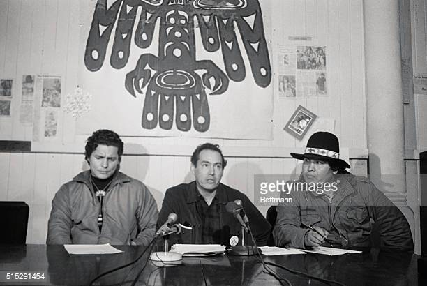 American Indian leaders huddled on rainswept Alcatraz in a preChristmas summit meeting to map strategy on their occupation of the historic island...
