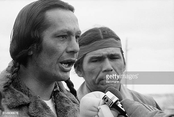 American Indian Movement leaders Russell Means and Dennis Banks dispute a statement that was made by a government spokesman on March 9th, in which...