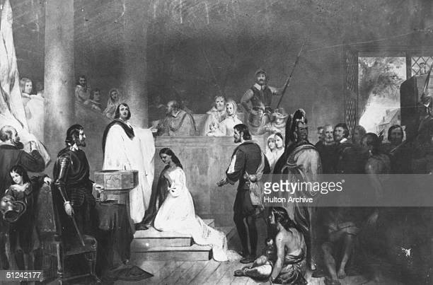 1614 American Indian princess Pocahontas is baptised with the name Rebecca in Jamestown before her marriage to John Rolfe
