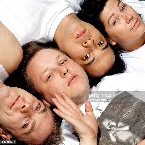 American indie band The Pixies circa 1989 Left to right drummer David Lovering singer Black Francis guitarist Joey Santiago and bassist Kim Deal