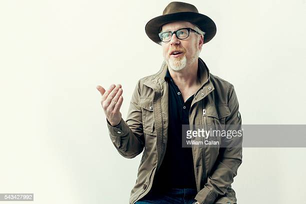 American industrial design and special effects designer/fabricator actor educator and television personality Adam Savage is photographed for The Wrap...