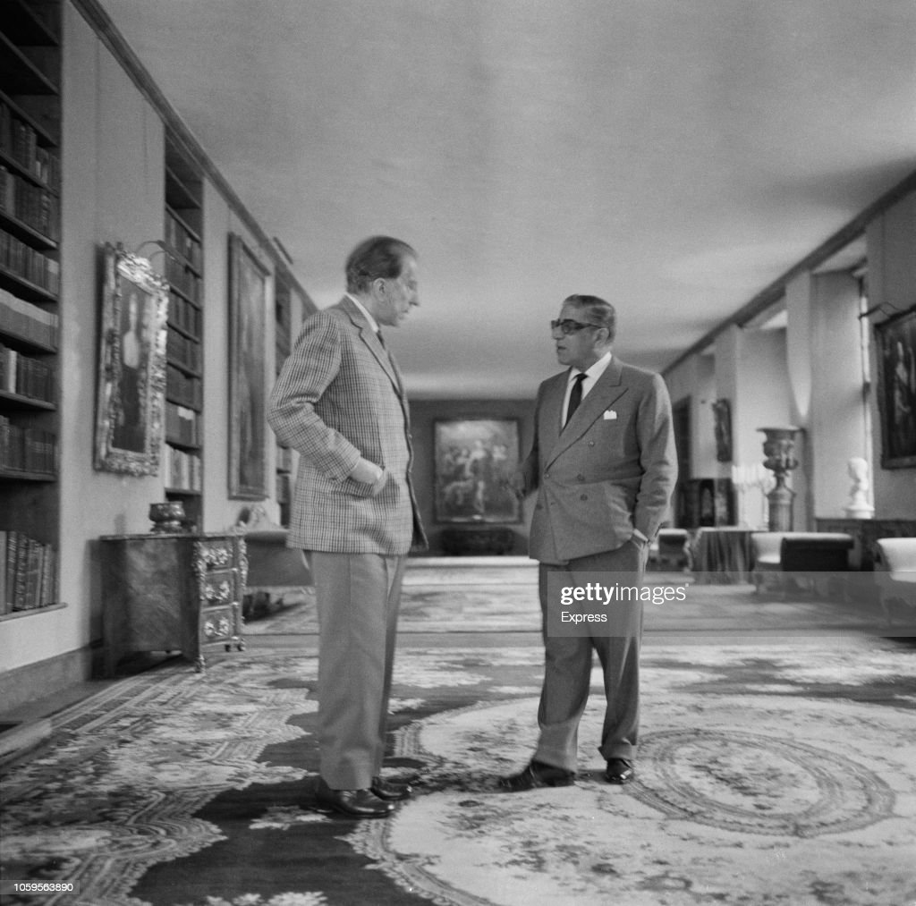 J. Paul Getty And Aristotle Onassis : News Photo