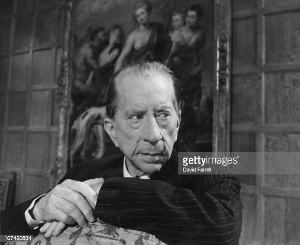 American industrialist J Paul Getty at Sutton Place his Tudor manor house in Surrey 1967