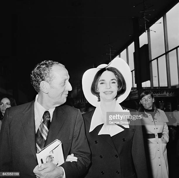 American industrialist Norton Simon and his wife actress Jennifer Jones at London Airport UK 31st May 1971