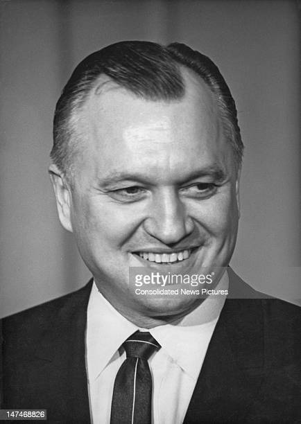 American industrialist Walter Joseph Hickel , 11st December 1968. He is resigning from his post as Governor of Alaska to serve as United States...